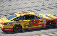 Logano Holds Off Harvick at Bristol