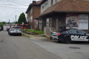 Pickup Crashes Into Building Steps