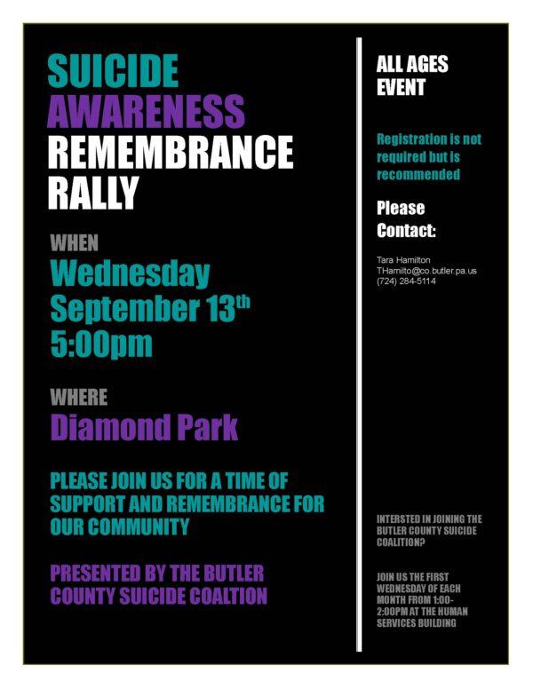 Suicide Awareness Remembrance Rally - ButlerRadio com