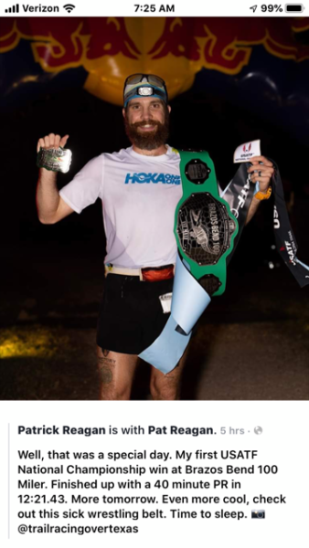 Rock grad wins 100-mile national event in Texas